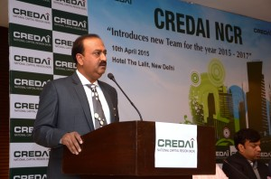 Mr. Manoj Gaur, President, CREDAI NCR addressing media