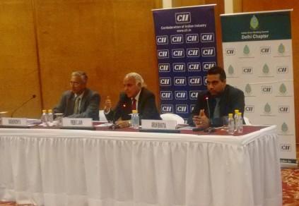 Mr S Raghupathy, Executive Director, CII-Godrej GBC; Dr Prem C jain, Chairman IGBC; Mr Arun Bhatia, Chairman IGBC - Delhi Chapter (L to R) - 1