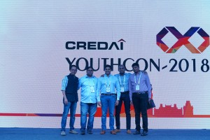 Left -Rohit Raj Modi,Chairman,Credai youth Wing National, Jaganath Reddy President Credai Hyderabad, Youth Wing. and other Members of Credai Youth wing.1