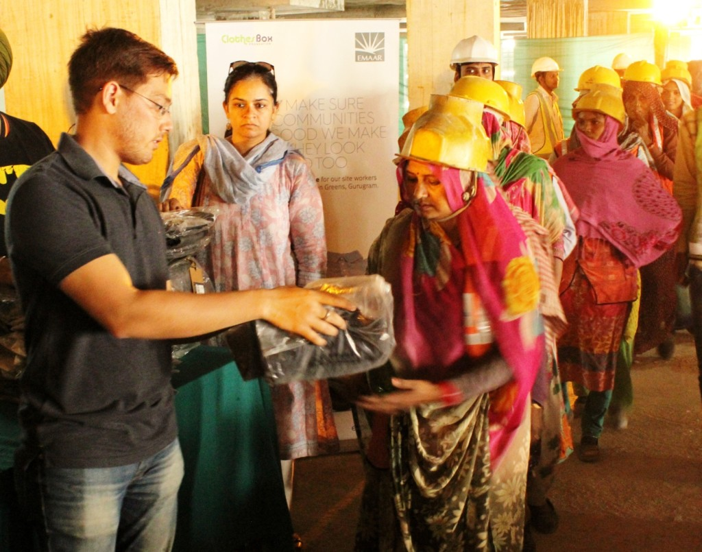 Clothes Distribution Drive by Emaar India at Gurgaon Greens on Dwarka_ Expressway 01