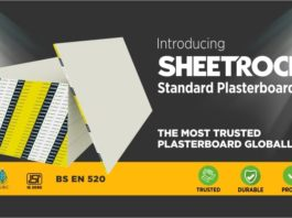 USG Global Sheetrock brand plasterboard